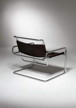 Compasso - Cantilever Steel chair by Luigi Saccardo for Arrmet