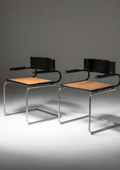"Compasso - Pair of ""Mara"" Armchairs by Luigi Saccardo for Arrmet"