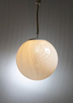 "Compasso - ""Tessuto"" Pendant Lamp Manufactured by Venini"