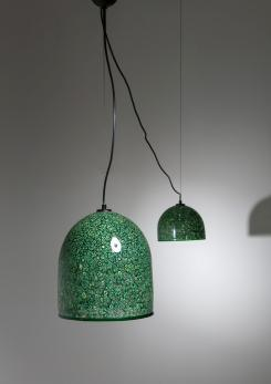 "Compasso - Set of Two ""Neverrino"" Ceiling Lamps by Gae Aulenti for Vistosi"
