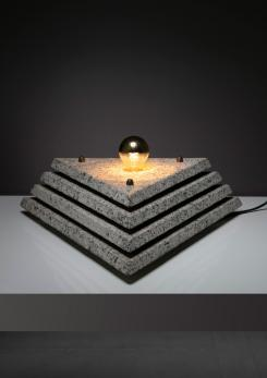 Compasso - Italian 70s One Off Granite Table Lamp