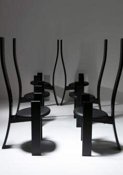 "Compasso - Set of Six ""Golem"" Chairs by Vico Magistretti for Poggi"