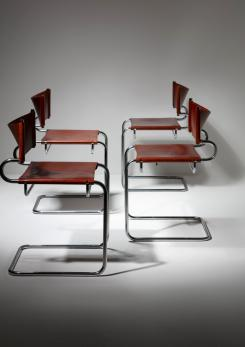 "Compasso - Four ""Terrj"" Armchairs by Luigi Saccardo for Arrmet"