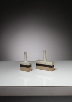 Compasso - Pair of Vases by Bruno Gambone