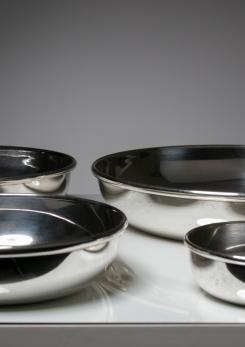 Compasso - Set of 4 Silver Plated Bowls by Ingo Knuth for MK