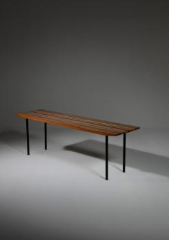 Compasso - Wood Bench by Lucio Roncalli