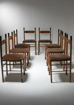 "Compasso - Set of 8 ""Studio"" Chairs by Caccia Dominioni for Azucena"