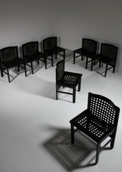 Compasso - Set of Seven Dining Chairs by Ammannati and Vitelli for Pozzi & Verga