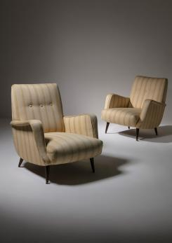 Compasso - Pair of Lounge Chairs by Carlo De Carli for Cassina