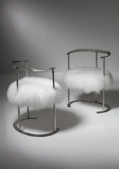 "Compasso - Pair of ""Catilina"" Armchairs by Luigi Caccia Dominioni for Azucena"