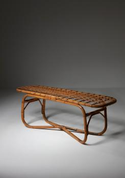 Compasso - Italian 60s Wicker Coffee Table