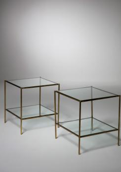 "Compasso - Pair of ""Montecarlo"" Side Tables by Corrado Corradi dell' Acqua for Azucena"