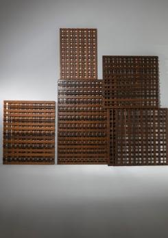 Compasso - Set of Five Italian 60 Wood Screens by Mario Monti