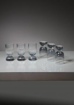 Compasso - Set of Six Murano Glasses by Ennio Lucini for Gabbianelli