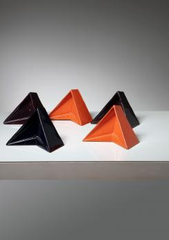 Compasso - Set of Six Ceramic Sculptures by Alfredo Pizzo Greco