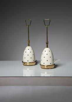 Compasso - Pair of Table Lamps by Angelo Lelii for Arredoluce