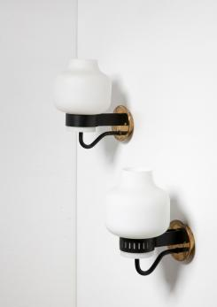 Compasso - Pair of Stilnovo Wall Lamps