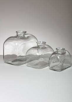 Compasso - Set of Three Murano Glass Vases Attributed to Barbini