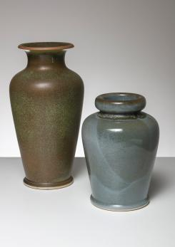 Compasso - Pair of Ceramic Vases by Franco Bucci for Laboratorio Pesaro