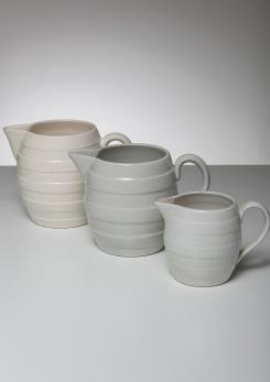 Compasso - Set of Three Ceramic Pitchers by Guido Andloviz for SCI Laveno
