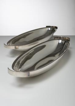 "Compasso - ""Conch-table"" Fish Serving Dish by Lino Sabattini for Sabattini Argenteria"