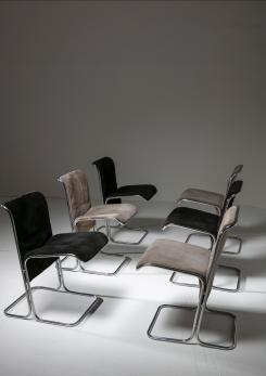 "Compasso - Set of 6 ""Calla"" Chairs by Antonio Ari Colombo for Arflex"