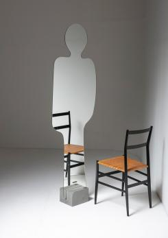 "Compasso - Free Standing Mirror ""Narciso"" by Platania for Acerbis"