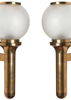 Compasso - Beautiful Pair of Brass Sconces