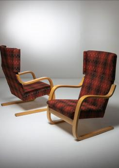 "Compasso - Rare Set of ""401"" Lounge Chairs by Alvar Aalto for Artek"