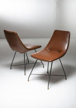 "Compasso - Pair of ""Aster"" chairs by Augusto Bozzi for Saporiti"