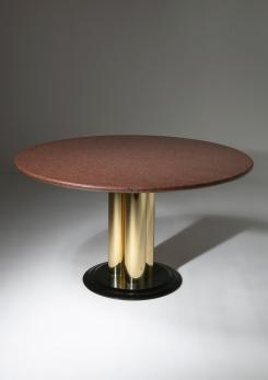 Compasso - Italian 70s Red Marble Dining Table