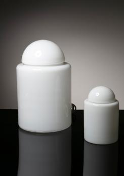"Compasso - Pair of ""Barattolo"" Table Lamps by Sergio Asti for Candle"