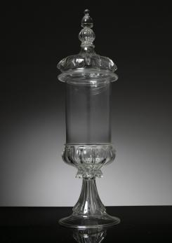 Compasso - Murano Glass Jar Attributed to Vetreria Vistosi