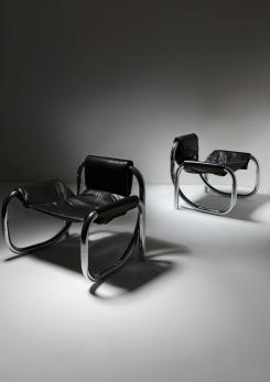 "Compasso - Rare Pair of ""Coda"" Chairs by Atelier De Troupe"