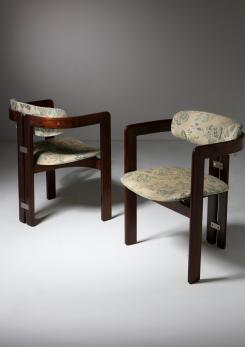 "Compasso - Pair of ""Pamplona"" Chairs by Augusto Savini for Pozzi"