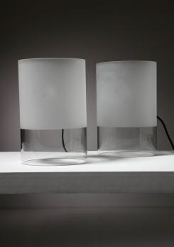 "Compasso - Pair of ""Fatua"" Table Lamps by Guido Rosati for Fontana Arte"