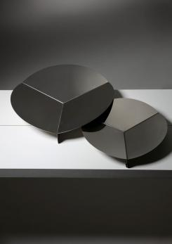 Compasso - Pair of Steel Centerpieces by Grignani for Luci