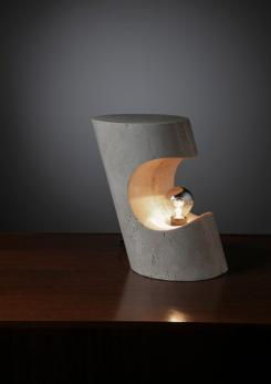 Compasso - Travertine Table Lamp by Giuliano Cesari for Sormani