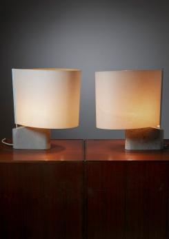 "Compasso - Pair of ""Vela"" Table Lamps by Werther Toffoloni for Ibis."