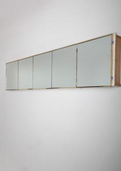 Compasso - Italian 60s Wall Mounted Cabinet with 5 Mirrored Doors