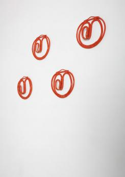 Compasso - Set of Four Wall Hooks by Albini Helg for Bonacina