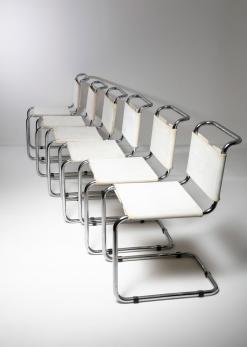 Compasso - Set of Six Cantilever Chairs by Marcel Breuer for Gavina