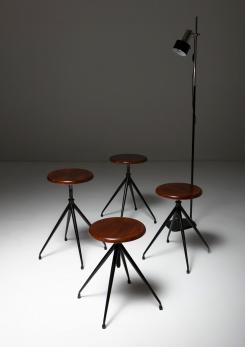 Compasso - Set of Four Stools Model A105 by Gastone Rinaldi for Rima