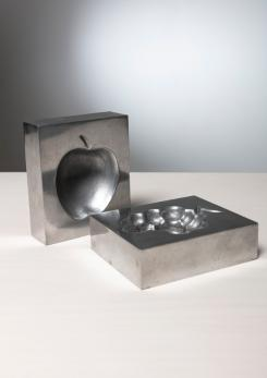 Compasso - Pair of Aluminum Ashtrays by Roy Adzak for Atelier A