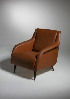 "Compasso - Pair of ""802"" Armchairs by Carlo De Carli for Cassina"