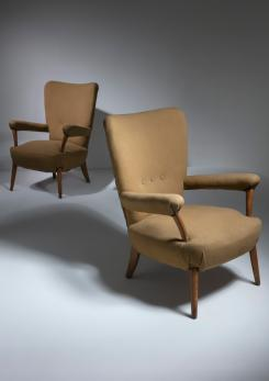 Compasso - Pair of Armchairs by Ottorino Aloisio for Colli