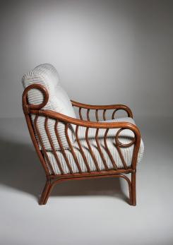 Compasso - Italian 60s Wicker Lounge Chairs