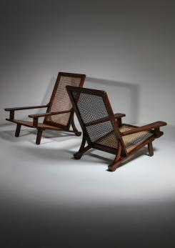 Compasso - Pair of Lounge Chairs by Enrico Galassi