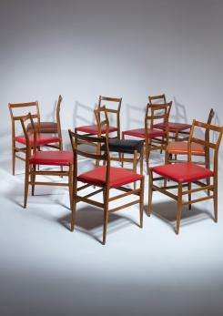 "Compasso - Set of 10 ""Leggera"" Chairs by Gio Ponti for Cassina"