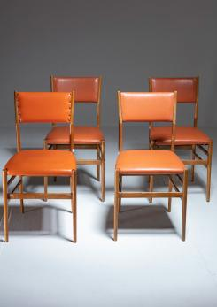 "Compasso - Set of Four ""Leggera"" Chairs by Gio Ponti for Cassina"